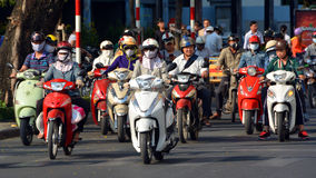 Motorcycle Madness in Saigon 3 stock image