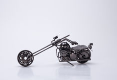 The motorcycle. Make nice toy motorcycle models, beautiful handicraft products Royalty Free Stock Images
