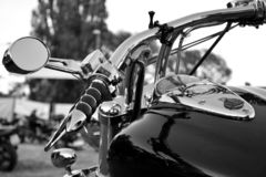 Motorcycle, metal and chrome parts royalty free stock photos