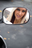 Motorcycle Mirror Royalty Free Stock Photos