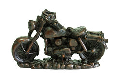 Motorcycle model. Motorcycle statue on the scene white Stock Image