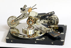 Motorcycle model of HDD parts Royalty Free Stock Photos