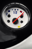 Motorcycle moped fuel gauge gage display at empty point Stock Images