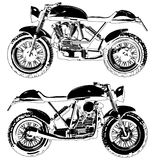 Motorcycle Motocross Vector Royalty Free Stock Images