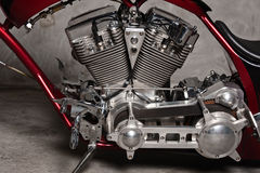 Motorcycle Motor Stock Photography