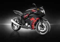 Motorcycle Motorbike Bike Riding Rider Contemporary Black Concep Stock Images