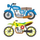 Motorcycle motorbike flat vector icons set Stock Photo