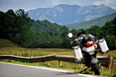 Motorcycle Mountain Road Stock Photography
