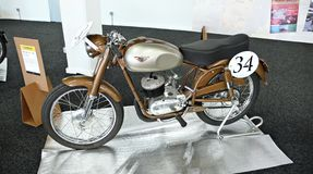 Motorcycle MYMSA A1 125 - 1955 Royalty Free Stock Images