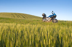 Motorcycle in nature Royalty Free Stock Photo