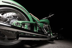 Motorcycle at night Stock Photography
