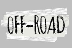 Motorcycle Off-Road Lettering Royalty Free Stock Photos