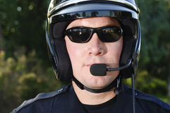 Motorcycle officer Stock Photos