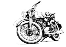 Motorcycle old illustration Stock Images