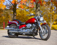 Motorcycle outdoors Royalty Free Stock Photos