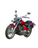 Motorcycle with outline Royalty Free Stock Photography