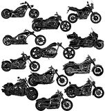 Motorcycle silhouettes Stock Photo