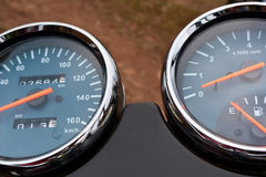 Motorcycle panel meters Royalty Free Stock Photo