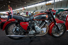 The Motorcycle Panther Model 120, 1960. STUTTGART, GERMANY - MARCH 03, 2017: The Motorcycle Panther Model 120, 1960. Europe`s greatest classic car exhibition ` Stock Image