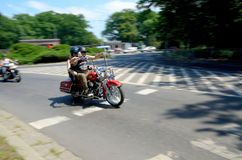 Motorcycle parade in Wroclaw, Poland Stock Photography
