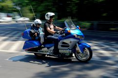 Motorcycle parade in Wroclaw, Poland Stock Image