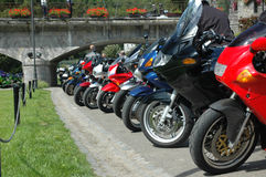 Motorcycle parking Royalty Free Stock Photo