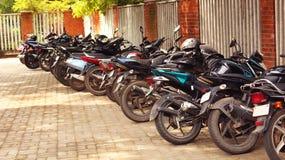 Motorcycle Parking Royalty Free Stock Photos