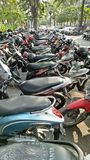 Motorcycle parking Stock Image