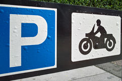 Motorcycle parking sign Royalty Free Stock Image