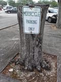 Motorcycle parking only Stock Photo