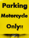 Motorcycle only Parking Stock Images
