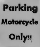 Motorcycle only Parking Stock Image