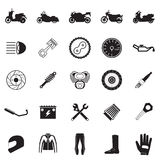 motorcycle part and item set Royalty Free Stock Image
