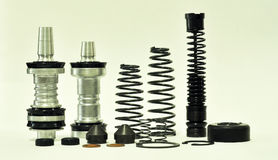 Motorcycle Part. Shock absorber - suspension Royalty Free Stock Photography