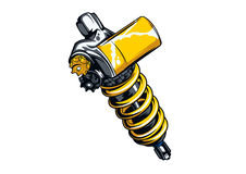 Motorcycle part Shock Absorbers 01 Royalty Free Stock Image
