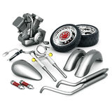 Motorcycle parts Royalty Free Stock Image