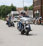 Motorcycle Poker Run Riders having fun! Royalty Free Stock Images