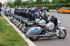 Motorcycle Police Arlington Washington DC Stock Image