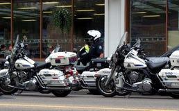 Motorcycle Police In Edmonton Royalty Free Stock Photos