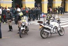 Motorcycle police at a parade Stock Photos