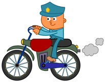 Motorcycle policeman Stock Photo