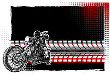 Motorcycle Poster Background. Motorcycle on the Black Background Royalty Free Stock Photos