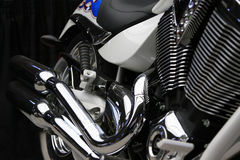 Motorcycle Profile. Front angle view of a racing bike Stock Images