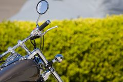 Motorcycle (Quarter). Front of motorcycle and mirror Royalty Free Stock Photography