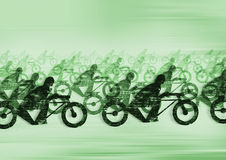 Motorcycle race. Racing motorrcycles, digital illustration Royalty Free Stock Photography