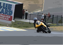 Motorcycle Race. Motorcycle racing Illustration Royalty Free Stock Photography
