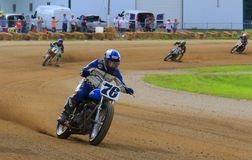 Motorcycle race action Royalty Free Stock Photography