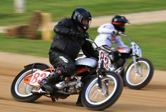 Motorcycle race action Royalty Free Stock Image