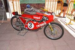 Motorcycle Race Bike Classic Derbi 125 Royalty Free Stock Images
