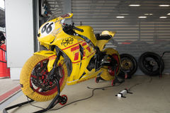 Motorcycle Race Cup Moscow Region Governor. MOSCOW - JUNE 5 : The racing sport bike before the race in the paddock on June 5, 2016 in Moscow Raceway royalty free stock images
